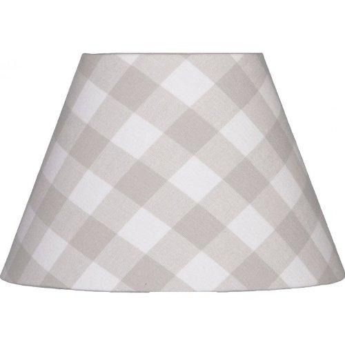 Livin-design Abat-Jour Rond à Carreaux Gris Clair 22 cm E14