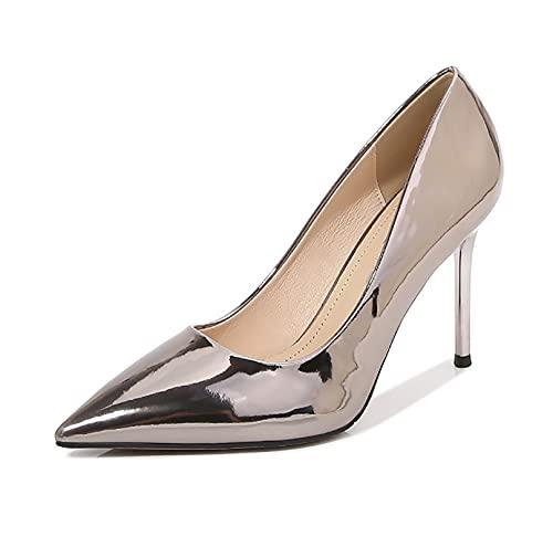 HSY SHOP Bombas Elegantes para Mujer/Tacones Altos para Mujeres jóvenes/Zapatos clásicos para Mujer con Tacones (Color : Champagner, Size : EU:37/UK:4.5/US:6)