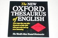 英語の類義語辞典オックスフォード