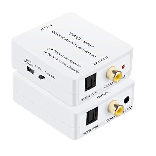Optical to Coaxial or Coax to Optical Digital Audio Converter, avedio links Optical SPDIF Toslink to Coaxial and Coaxial to Optical SPDIF Toslink Bi-Directional Digital Audio Switch Splitter Converter
