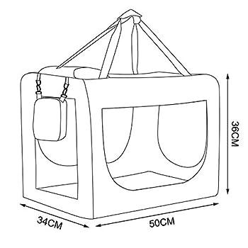 dibea Caisse de Transport pour Chien Sac pour Chien Pliable Caisse de Transport pour la Voiture Sac pour Petits Animaux (Beige, 50x34x36 cm)