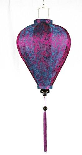 Ferne Schätze Seidenlaterne Laterne/Lampion aus Vietnam, Ballon (60cm, violett)