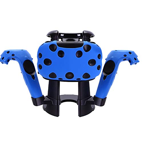 Find Bargain Silicone Skin Protect Headsets Skin Headset Stand for HTC Vive VR Headset (Blue)