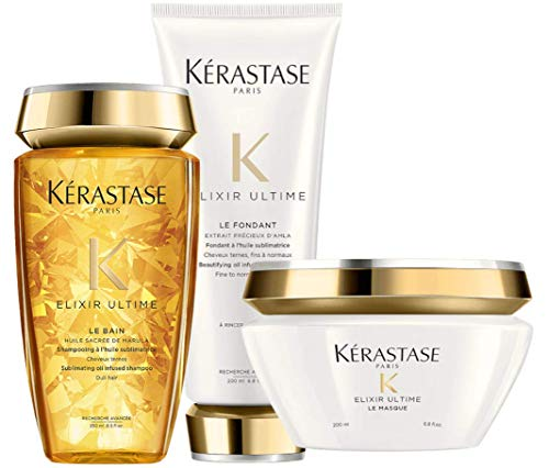 Kit Kérastase Elixir Ultime Bain Fondant Masque (3 Produtos)