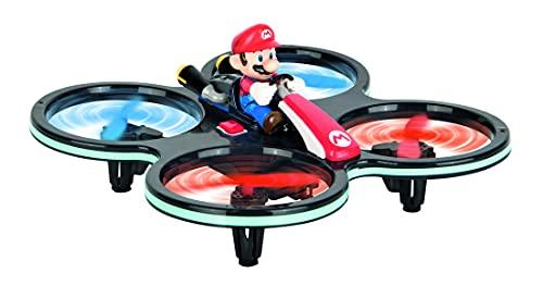 Carrera 370503024 RC Mini Mario-Copter, Rot/Schwarz │ Ferngesteuerter Elektro-Helikopter für drinnen & draußen │mit Ersatz-Rotorblättern & Fernbedienung │ Spielzeug für Kinder ab 8 Jahren & Erwachsene