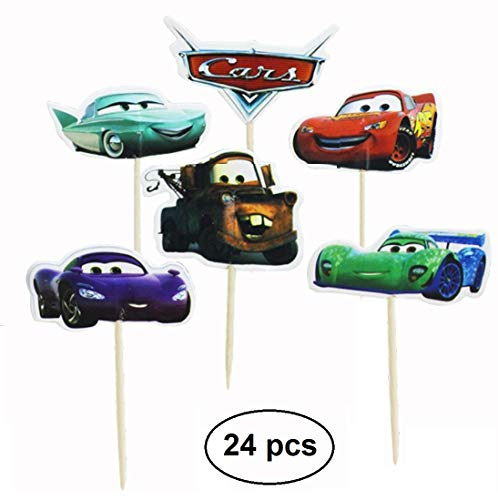 WIKI Fiesta : Cars-Toppers (Packung mit 24)