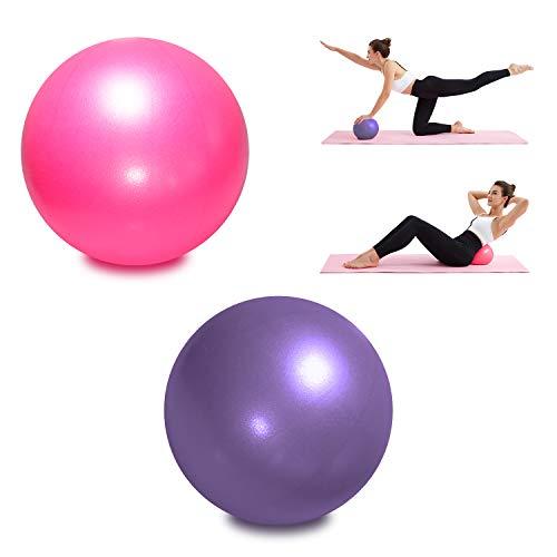 TopBine 2 Piezas Pelota de Pilates para Yoga, Barra, Entrenamiento y Terapia Física, Mejora el Equilibrio, Fuerza de Núcleo, Dolor de Espalda y Postura, Viene con Paja Inflable ⭐