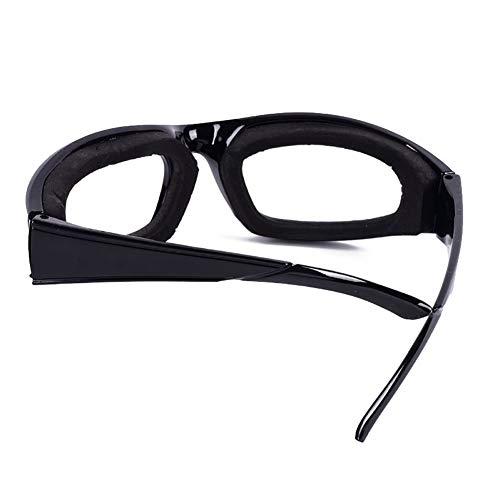Saniswink Sicherheitsbrille für Zwiebelbrille, zum Schneiden und Schneiden von Augenschutz, Küchenwerkzeug, fügen Sie Ihrem Leben ein Einheitsgröße Schwarz