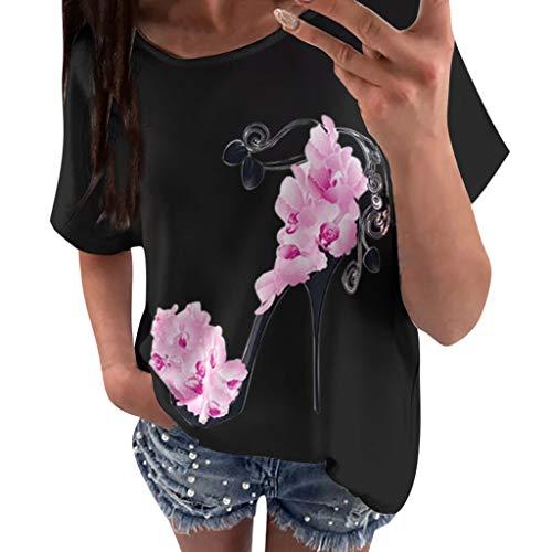 Darringls Magliette Manica Corta Donna Estive Camicia Elegante Tops Tumblr T-Shirt Casual Maglie Donna Taglie Forti Bluse Estivi Maglietta Manica Corta Donna
