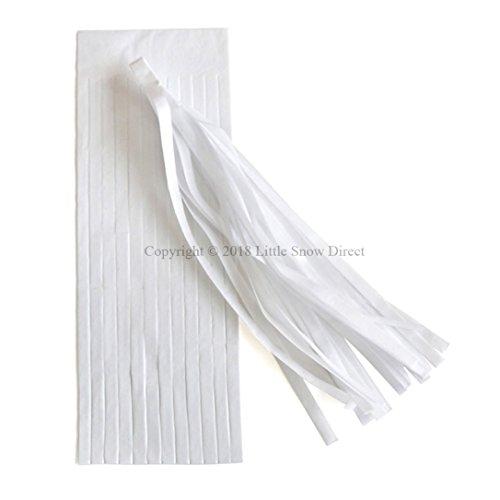 Little Snow Direct 5pcs Tassels Garland Tissue Paper Bunting Wedding Birthday Party Baby Shower - White