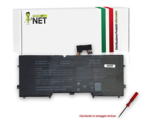 notebook xps 13 New Net - Batteria Ricambio Y9N00 489XN WV7G0 PKH18 C4K9V Compatibile con Notebook dell XPS 13 L321X L322X [7000mAh 7.4V]
