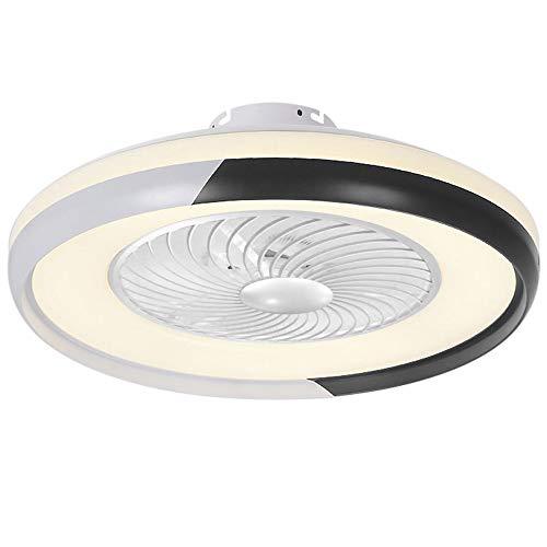 Plafoniera Led Soffitto,Lampada Moderna Per Ventilatore A Soffitto Con Telecomando Luce A 3 Colori 3...