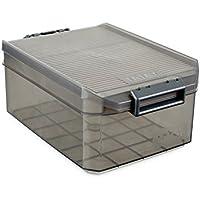 Tatay 1150214 Caja de Almacenamiento Multiusos con Tapa 4.5l de Capacidad plástico Polipropileno Libre de bpa, Marrón, 19,2 x 29,7 x 12,4 cm