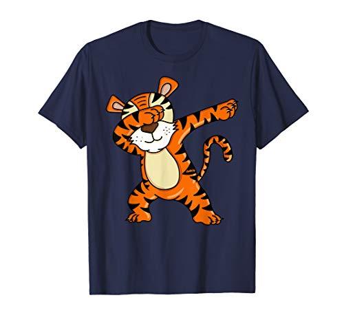 Dabbing Tiger T-Shirt Jungen Lustig Tiger Shirt Dab T-Shirt