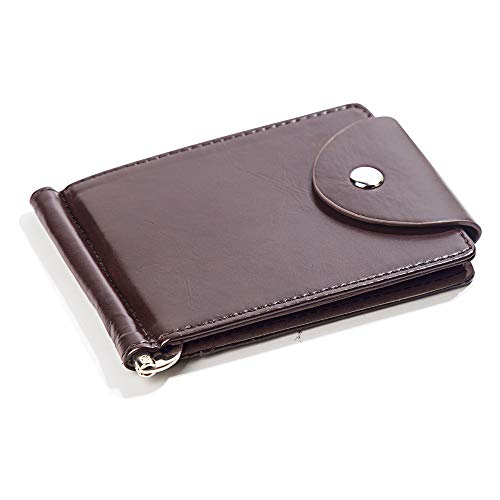 HANGYIKJ Herrenbrieftasche Große Kapazität Casual Clutch Bag tragbare Multi-Karten-Brieftasche Multifunktions-Geldbörse Kurze Schnalle