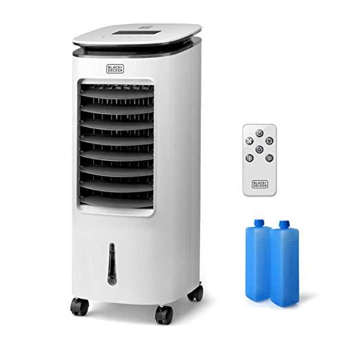 Black+Decker BXAC7E Ventilator Luftbefeuchter, 65, Kunststoff, Weiß