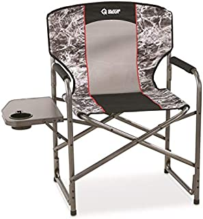 Guide Gear Oversized Director's Camping Chair, 500-lb. Capacity, Mossy Oak Elements Agua, Mossy Oak Agua Manta