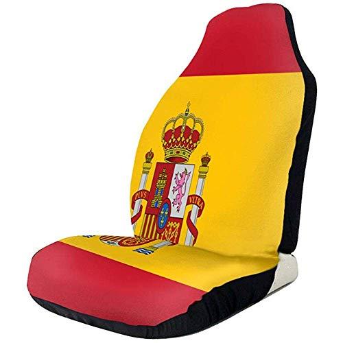 Alice Eva Flagge von Spanien Autositzbezüge Wasserdichte rutschfeste Vordersitzbezüge Autositzschutz