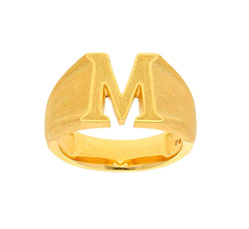 PRIMAGOLD(プリマゴールド) 24K Mens 純金 イニシャルM リング(アルファベット) 24金 純金 K24YGメンズ 男性用 ゴールド (13)