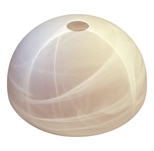 Lampenglas Lampenschirm E27 Deckenfluter Hängelampe alabasterfarbig 23,8cm weiss KK25
