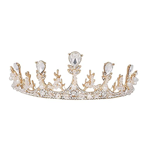 Tiaras Sparkly Hecho a mano Rhinestones Cristales de la corona Novia Boda Headpeice Accesorios de joyera velo de novia TSYGHP