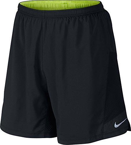 Nike Herren 2-in-1 Shorts 7 Zoll Pursuit, Schwarz, S