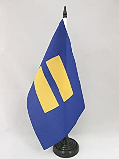 AZ FLAG Equality Table Flag 5'' x 8'' - Human Rights Desk Flag 21 x 14 cm - Black Plastic Stick and Base