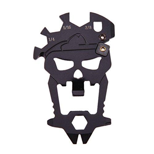 Seawang 12 in 1 EDC schedel stijl mini schroevendraaier fles opener moersleutel mes gereedschap