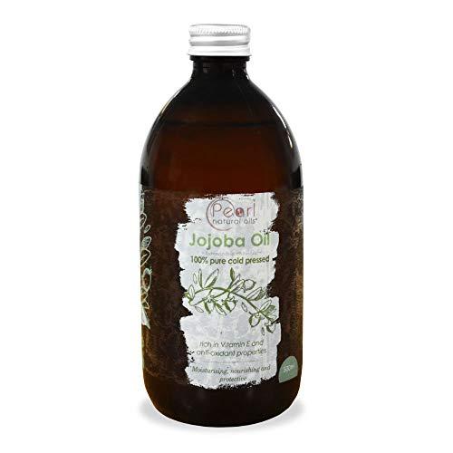100% Pure Golden Jojoba Oil 500ml - Cold Pressed,Unrefined, Vegan, Hexane Free, No GMO. A Perfect Aromatherapy and Massage Base Oil 500ml…
