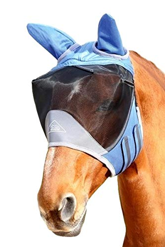 Shires Deluxe Fly Mask with Ears-Small Pony-Royal Blue