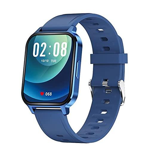 ZYZ Q18 - Reloj inteligente ultrafino para hombre y mujer, resistente al agua, 1.7 pulgadas Full Touch, rastreador de salud, adecuado para iOS Android, B