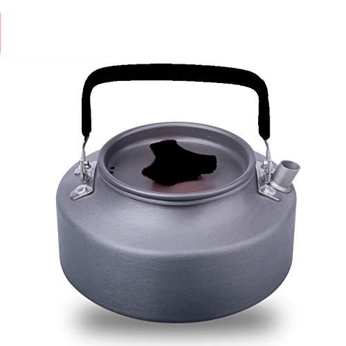 Bouilloire induction En plein air portable 1.1L1.6 bouilloire bouilloire bouilloire exquis pot pot café théière équipement de camping WHLONG (Color : Black, Size : 1.1L)