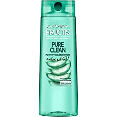 GARNIER FRUCTIS PURE CLEAN SHAMPOO: This paraben & silicone-free formula with Aloe Extract & Vitamin E cleans your hair with the goodness your hair wants for beautiful, healthier hair at every wash. GARNIER FRUCTIS SHAMPOO AND CONDITIONER formulas ar...