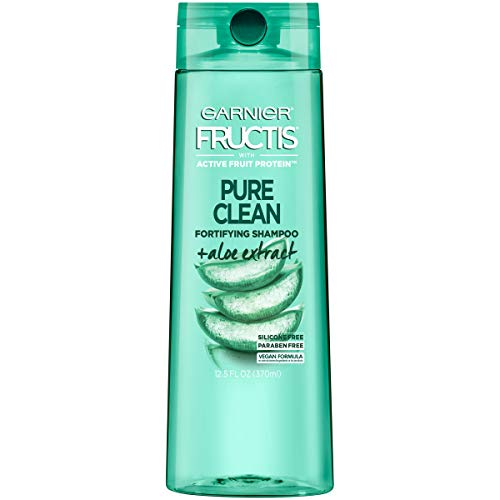 Garnier Fructis Pure Clean Shampoo, Paraben-Free Silicone-Free with Aloe Extract and Vitamin E, 12.5...