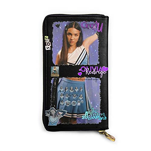 Buena 4 u Olivia Rodrigo 90s Vintage Digital Music Álbumes Rodrigo Sour Merch Cartera de cuero auténtico bolsos pequeños suave, suave con cremallera bolsillo fiesta