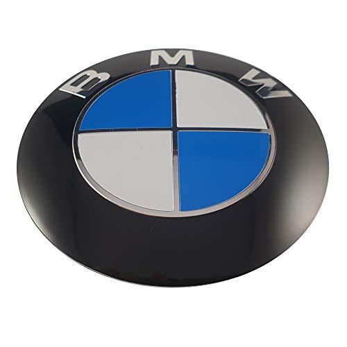 Otro LUDOSTREET ref0001 Logo Emblema Insignia Anagrama Compatible con 82mm Frontal capó Coche (Azul - Blanco)