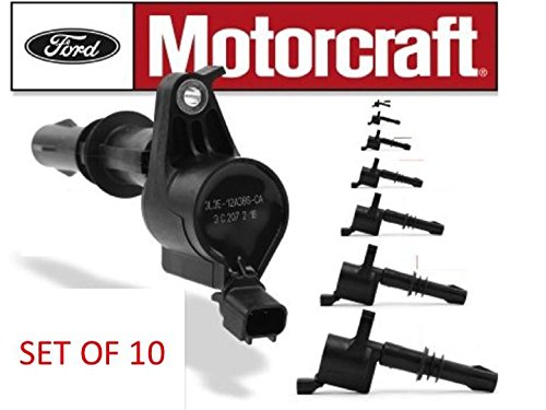 MOTORCRAFT IGNITION COIL FOR FORD LINCOLN MERCURY 3L3Z12029BA DG511 SET OF 10