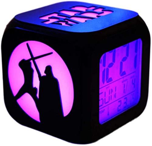 XY-M Star Wars 3D Stereo Wecker Leise LED Nachtlicht Mode Kreative Elektronische Sieben Farbe Wecker - USB-Lade