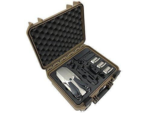 """Professioneller Koffer """"Platinum Edition"""" auf Basis Travel Edition für DJI Mavic 1 Pro / Platinum, 5 Akkus und vieles mehr (Sahara)"""