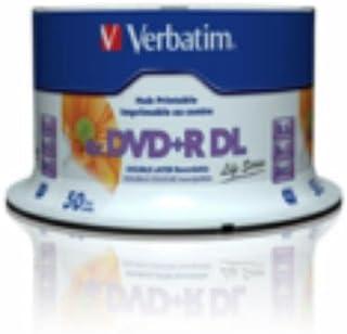 Verbatim 97693 8.5GB DVD+R DL 50pieza(s) DVD en blanco - DVD+RW vírgenes (8,5 GB, DVD+R DL, 50 pieza(s), 80 mm, 8x)