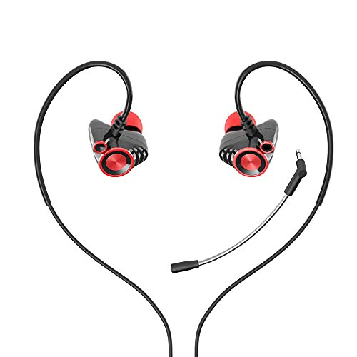 H P Sport-Kopfhörer, kabelgebunden, Gaming-Ohrbügel, Monitor-Kopfhörer mit Mikrofon, Stereo-Sound, Lautstärkeregler und abnehmbarem Mikrofon für Smartphone, PC, PS4, Xbox One und mobile Geräte