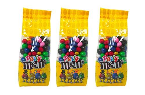 Buste di M&M's colorati da 500gr M&M's Party Cioccolato Arachidi Feste Party (MIX, 3 BUSTE DA 500GR)