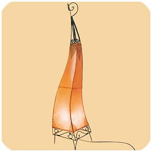 Orientalische Lampe Hennalampe marokkanische Lederlampe Tischleuchte Stehleuchte El Bahia Orient 100 cm Farbe Orange