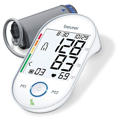 "Beurer BM55 Upper Arm Blood Pressure Monitor, Large Cuff | Automatic & Digital, 2-Users, XL Display, Irreg. Heartbeat Detector, Cuff Circ. 8.7""-16.5"" 