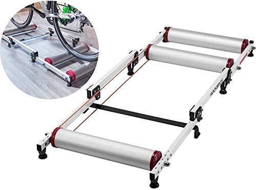 ZHANGYY Rodillos de Bicicleta Plegable Bicicleta de Interior Ciclismo Rodillo Entrenador MTB...