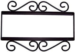 Fine Crafts Imports Wrought Iron House Number Frame Mission 4