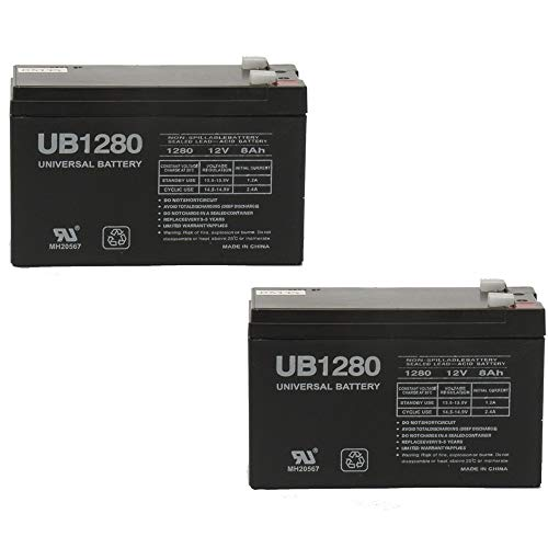 Universal Power Group 12V 8Ah F2 Razor Sweet Pea E300S Electric Scooter SLA Battery - 2 Pack