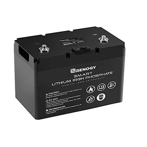 Renogy 12V 100Ah LiFePO4 Deep Cycle Lithium Battery, over 4000 Cycles, Built-in BMS, Backup Power for RV, Marine, Off-Grid System, Maintenance-Free