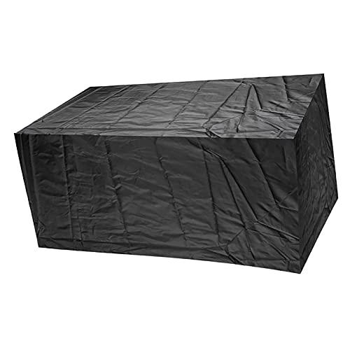 AWSAD Copertura per Mobili Impermeabile Telo Anti-UV con Presa d'Aria per Giardino Terrazza Divano da Esterno Due Colori (Color : Nero, Size : 110x110x80cm)