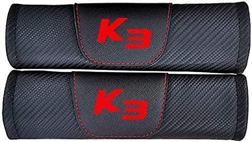 2Pcs Coche Almohadillas Cinturón Seguridad para KIA K3, Hombro Correa Cojín Cuello Protector Interior Accesorios